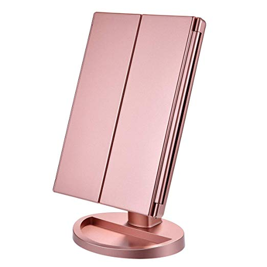 Amazon Com Lighted Makeup Mirror 21 Led Lights Vanity Mirror With Lights 1x 2x 3x