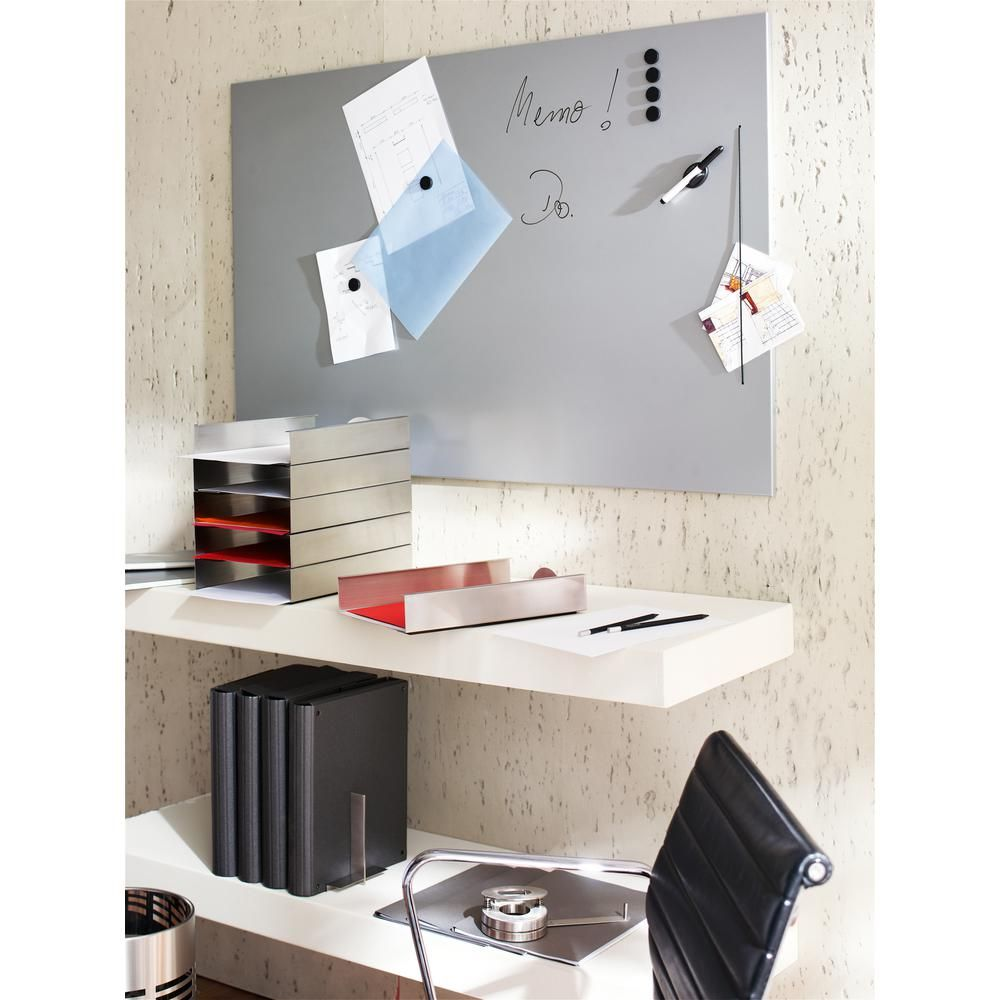 Blomus Muro Magnetic Memo Board In Stainless Steel 66749 The Home Depot Magnetic Wall Magnetic Memo Board Organizing Paperwork