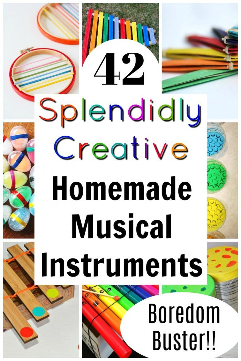 Splendidly Creative {and simple} Homemade Instruments! #musicalinstruments