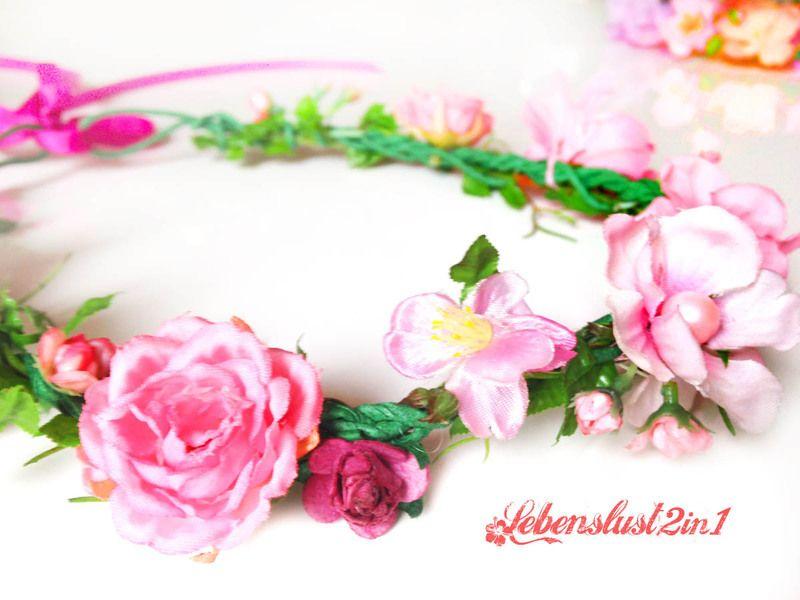 Blumen Kopfschmuck Midsommar *NATASCHA* von Lebenslust2in1 auf DaWanda.com