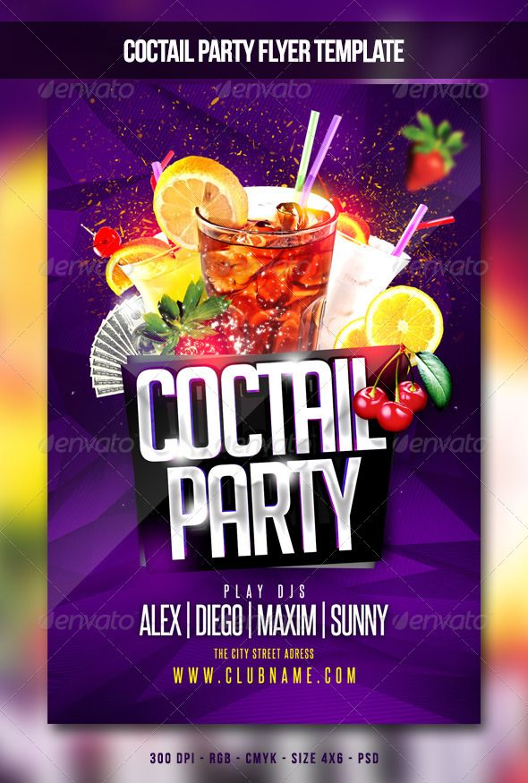 Coctail Party Flyer  Party Flyer Ecommerce Logo And Print Templates