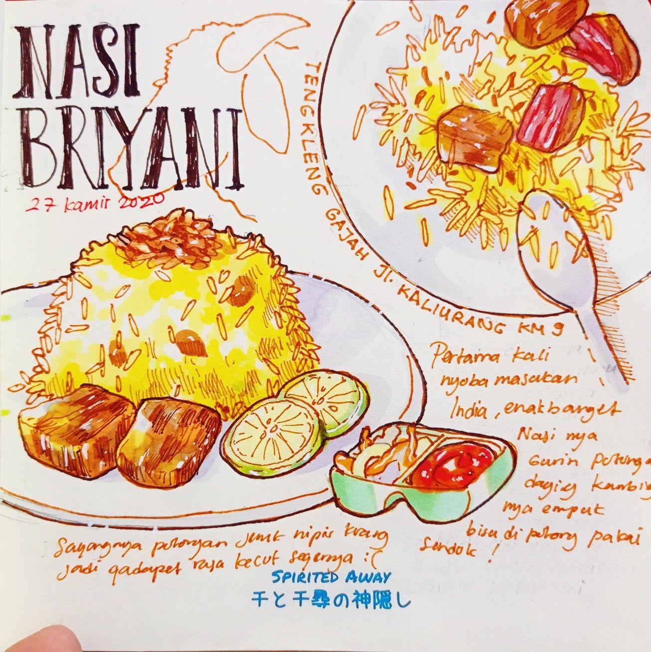 Indian Cuisine Nasi Briyani Gajah Nasi
