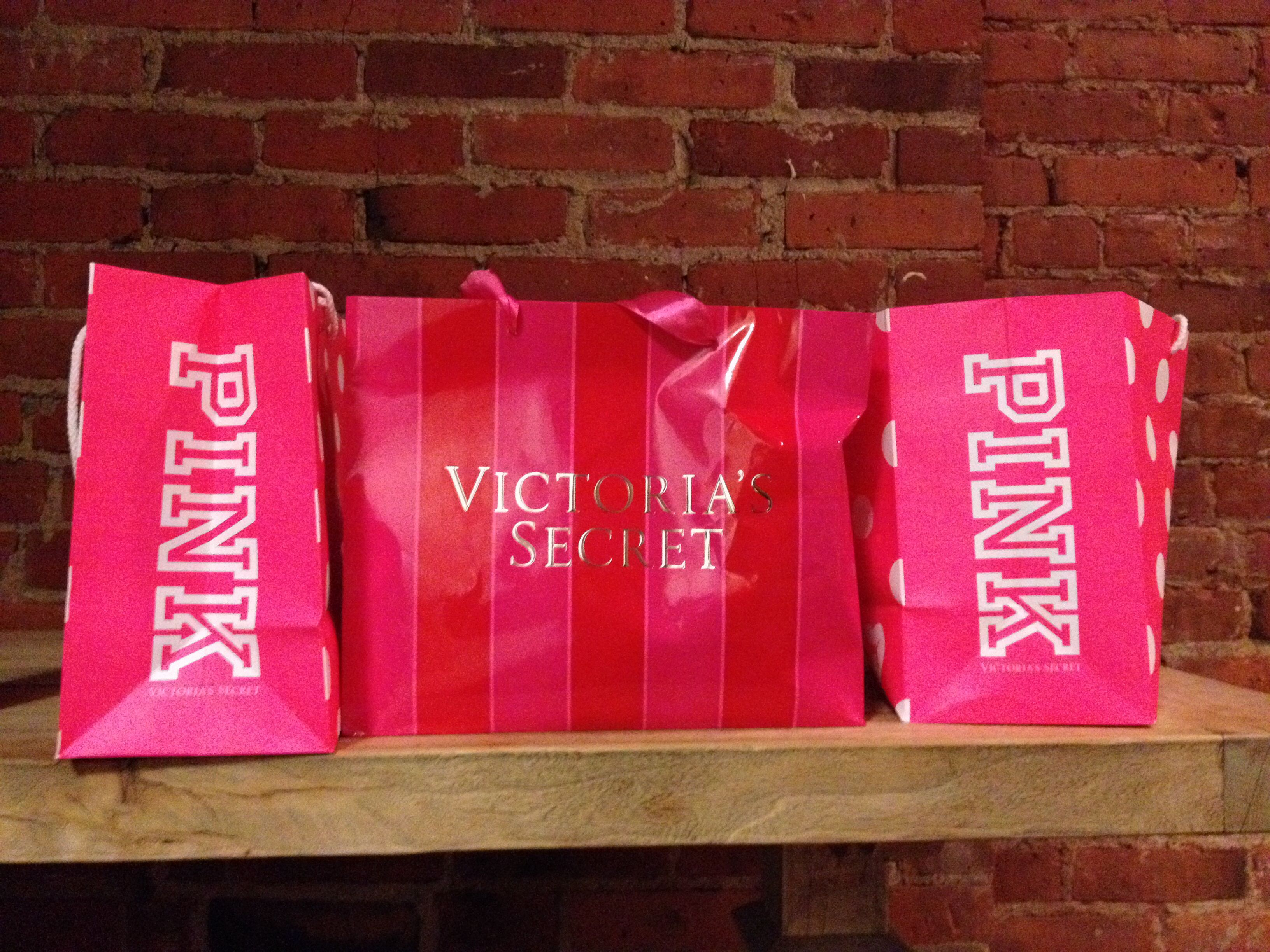 Victoria's Secret and pink shopping bags