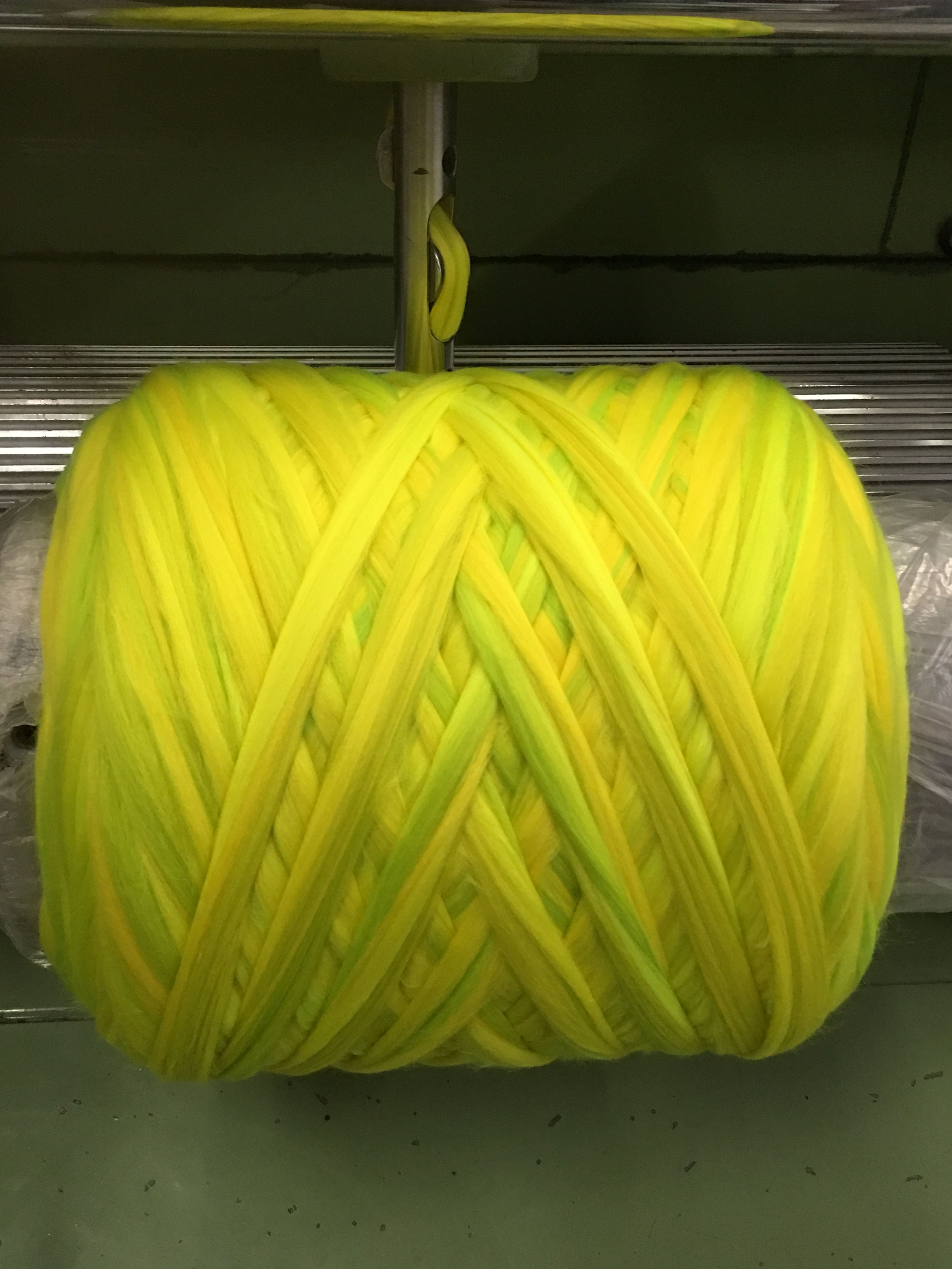 Neon melange shade being develop at the Michell Mill. Think Alpaca ... Think Michell
