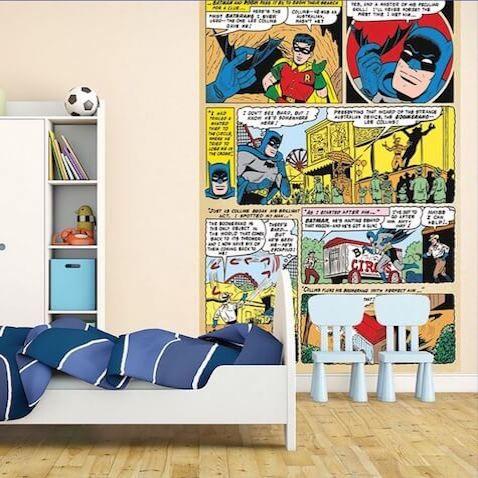 Decoraci n habitaci n de superh roes batman y robin dc for Dormitorio super heroes