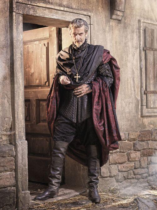 Cardinal Richelieu, played by Peter Capaldi.