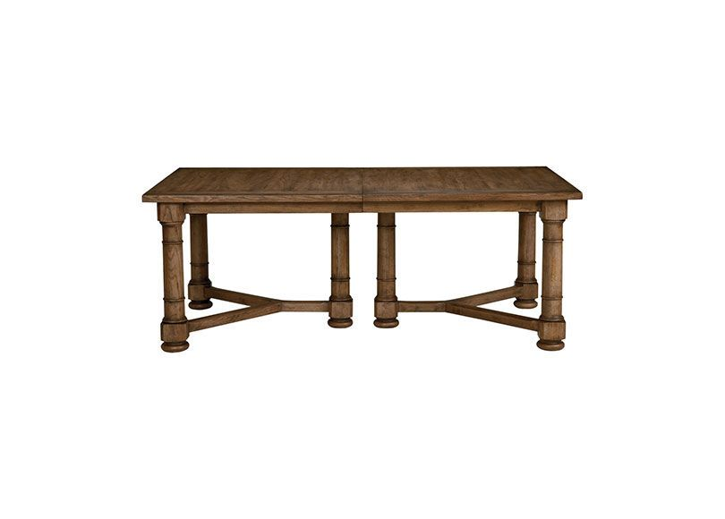 Delphi Dining Table Opens To 128 W 2 Leaves 46x80 Closed Plank
