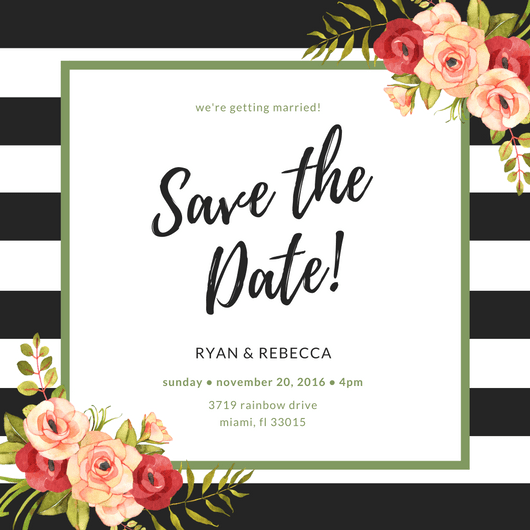 design your own stunning save the date cards for free using canva s