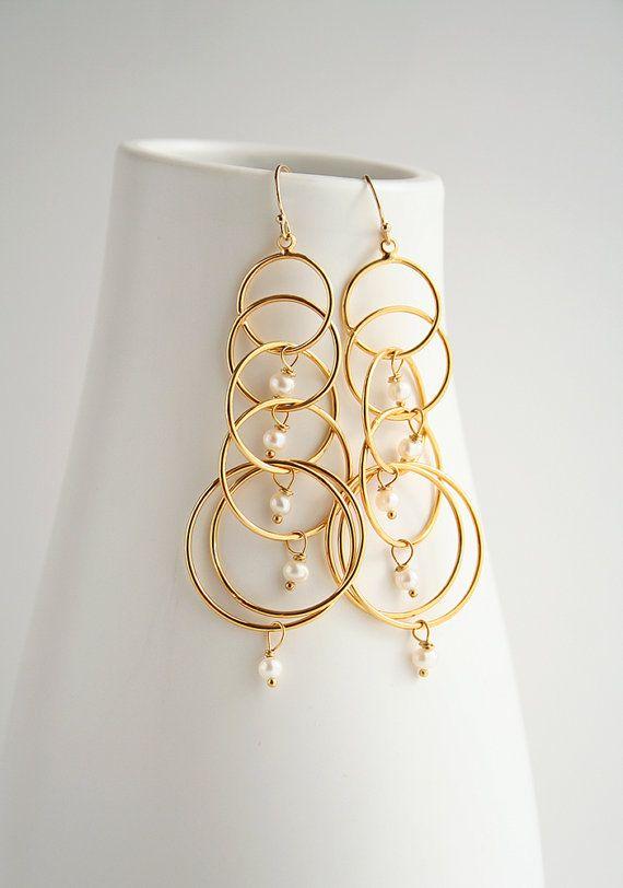 2019 Pearl Earrings, Bridal Earrings, Pearl Jewelry ...
