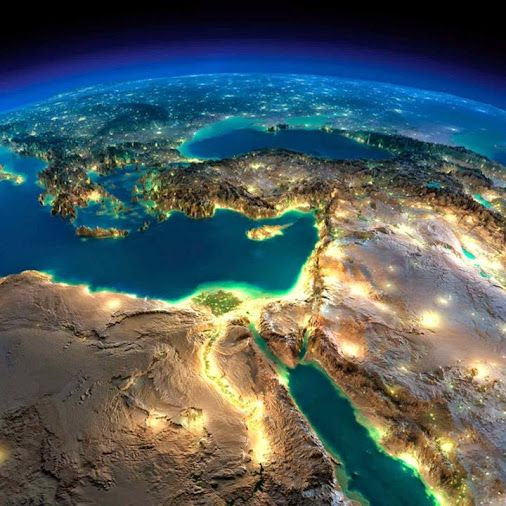 NASA Satellite Image For The Middle East And Egypt World NASA - Middle east satellite map