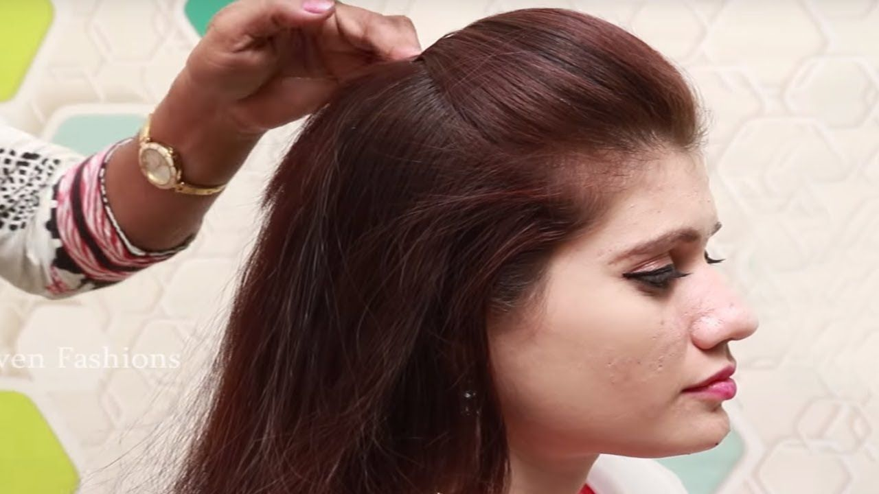 simlpe and beautiful front puff hairstyle under 2 minutes