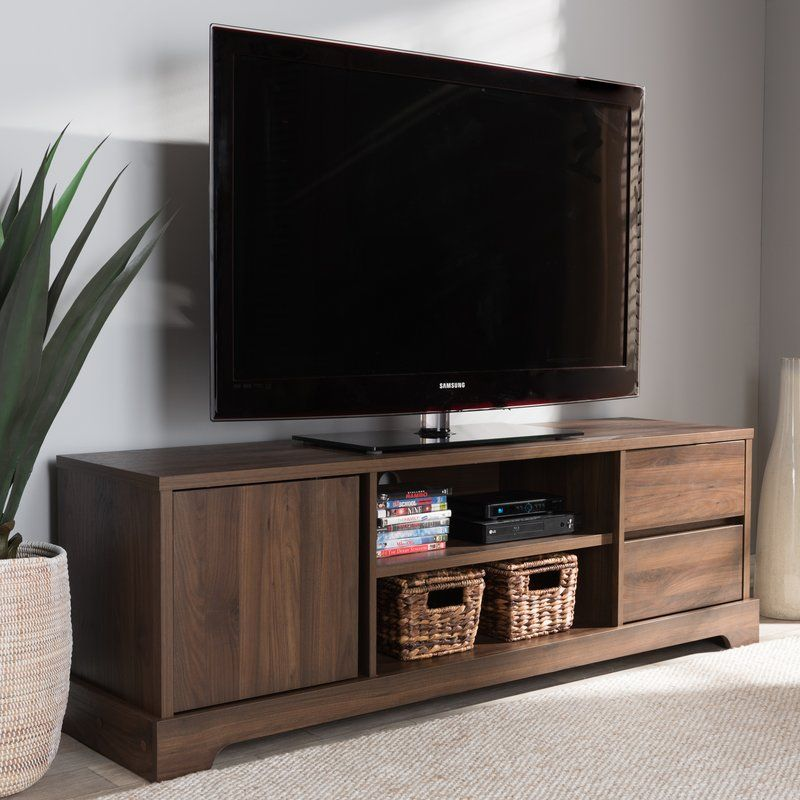 Banta Tv Stand For Tvs Up To 65 Tv Stand Wood Walnut Tv Stand