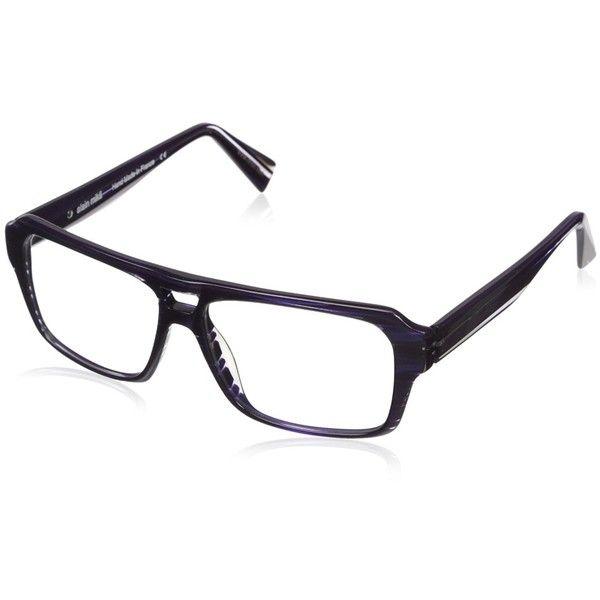 Alain Mikli Women's A01214 Eyewear, Purple/Crystal Striped