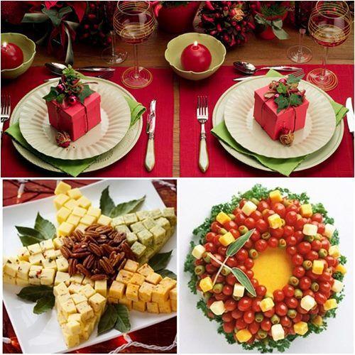 Decoraç u00e3o de Mesa de Natal Natal and M -> Decoração De Natal Para Mesa Quadrada
