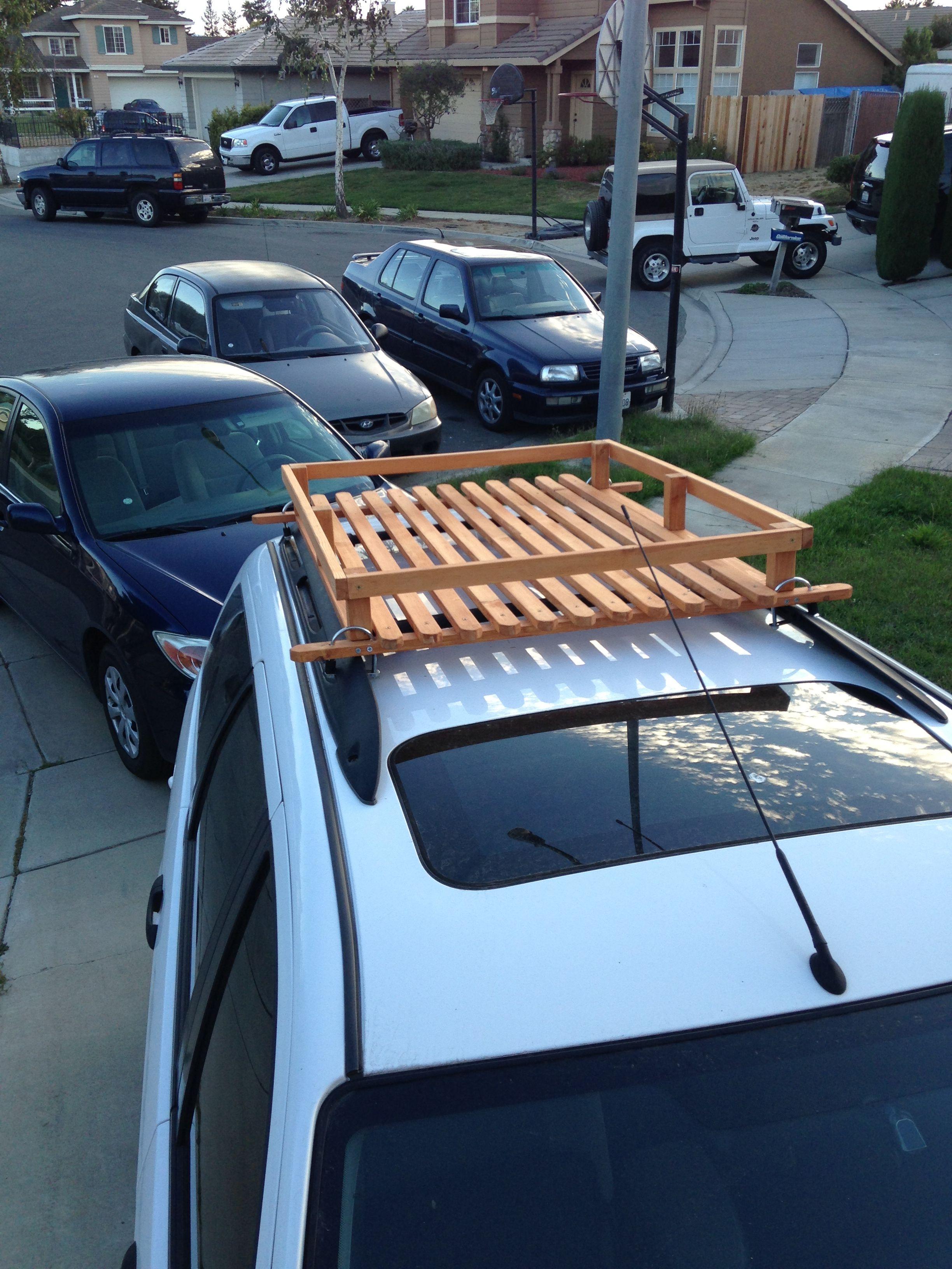 Built this wood roof rack for 50 bucks car roof racks