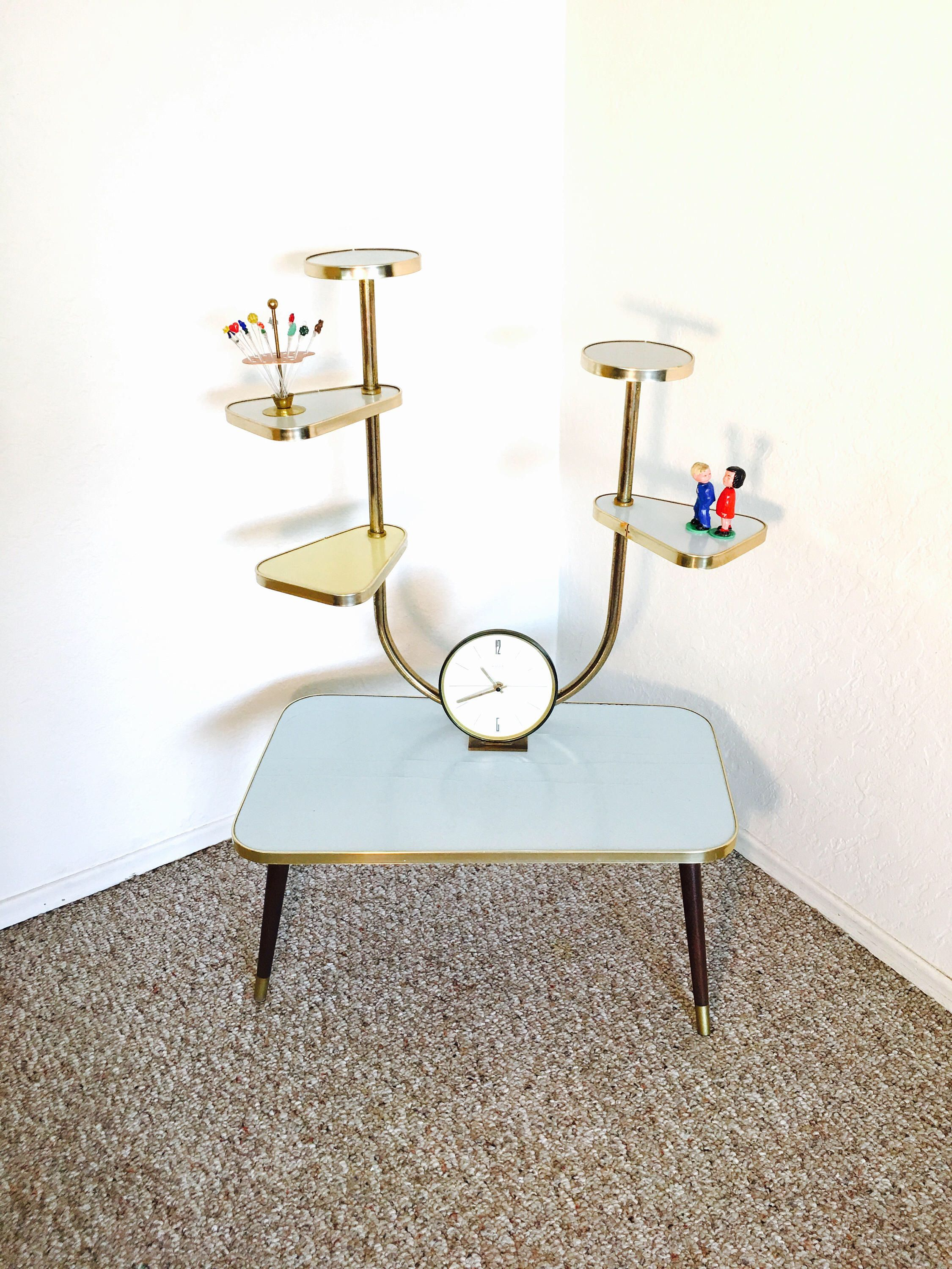 Atomic Era Table Mid Century Plant Stand Display Table Space