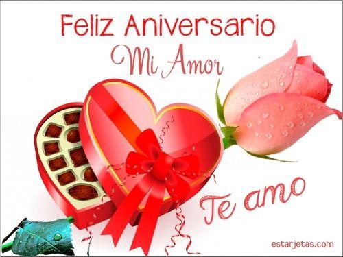 Feliz Aniversario Mi Amor Te Amo Ttitofraces Pinterest Anniversary