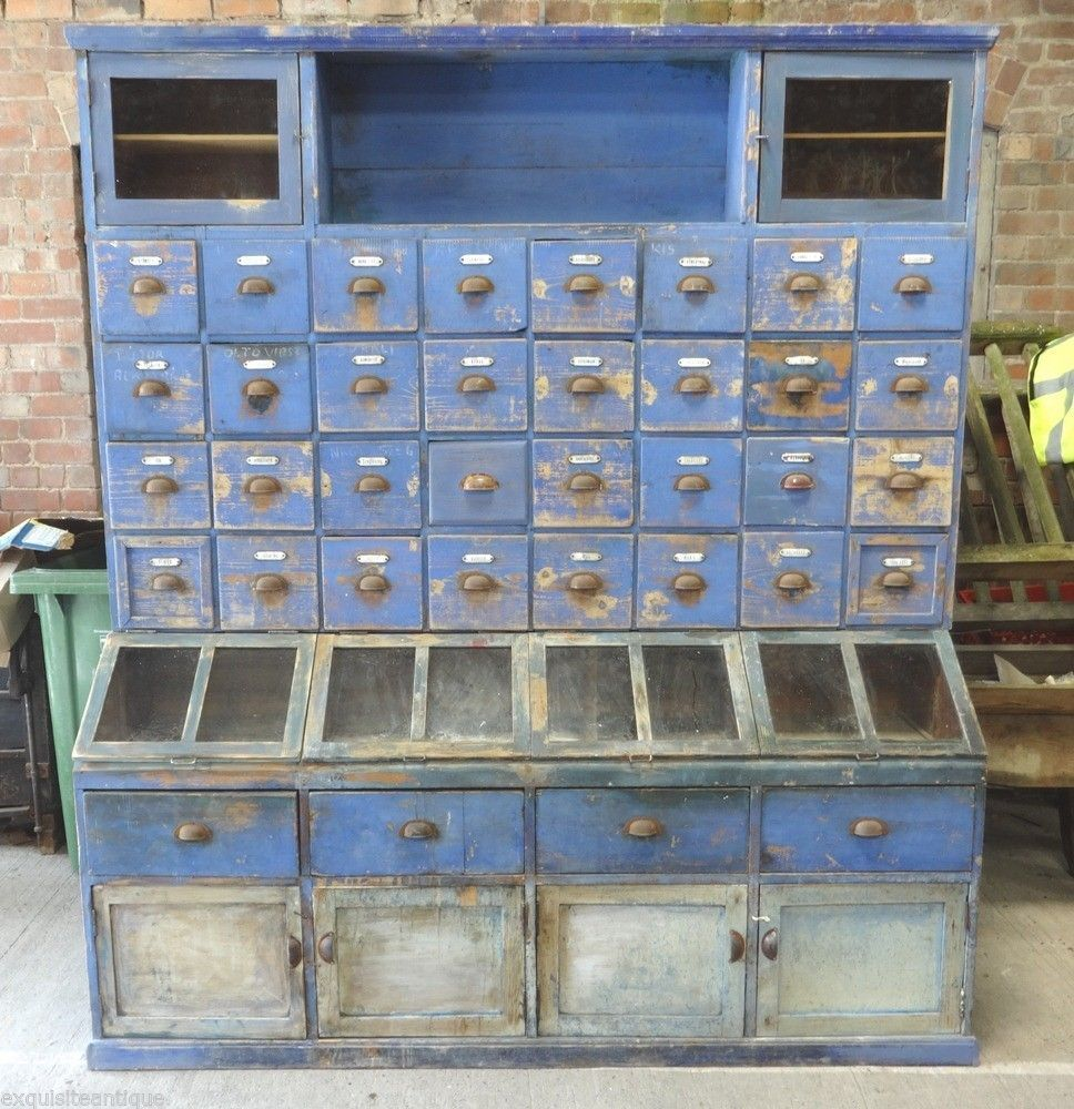 LARGE OLD APOTHECARY CABINET ❤️