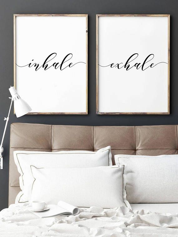 Inhale Exhale Print, Yoga Wall Art, Bedroom wall art, Inhale Exhale, Breathe Print, Relaxation Gift, Yoga print, Inhale Exhale, Pilates Art #inhaleexhaletattoo