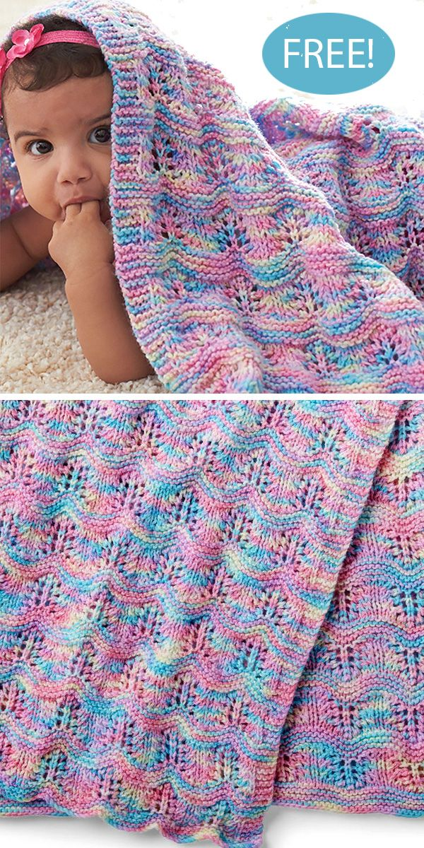 Baby Ripple Afghan in Bernat Baby Sport | Knitting Patterns | LoveKnitting