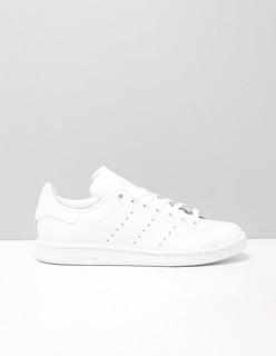 stan smith lage sneakers dames Wit S75104 WHITE Leer ...