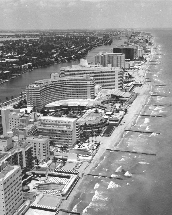 Florida Memory Aerial View Of The Fontainebleau Hotel Miami