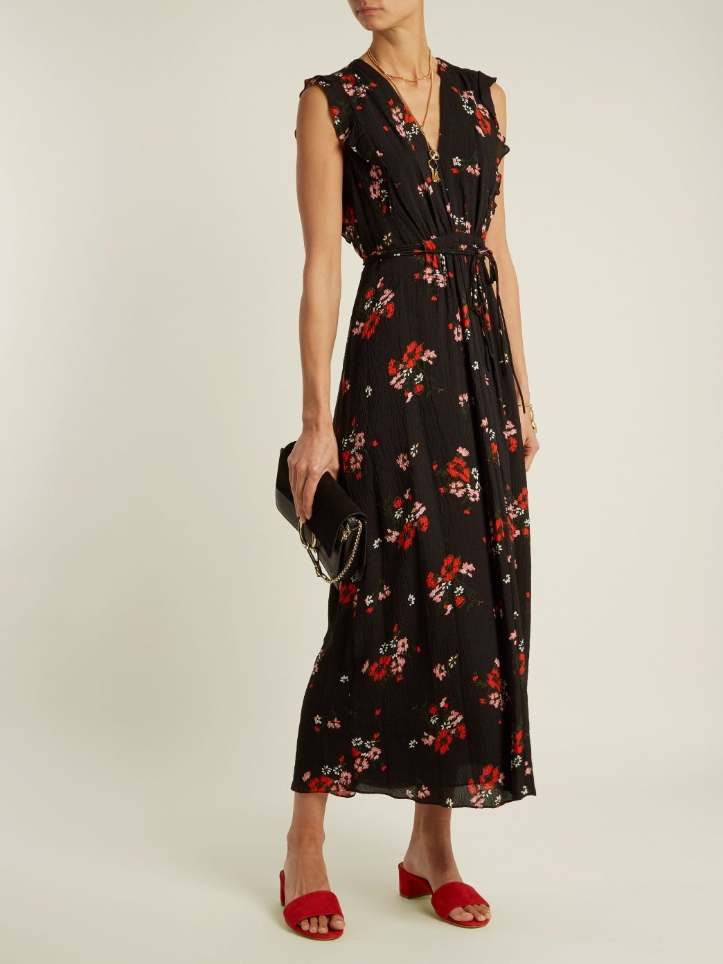 e606f73cade182 Marguerite floral-print silk-blend crepe dress