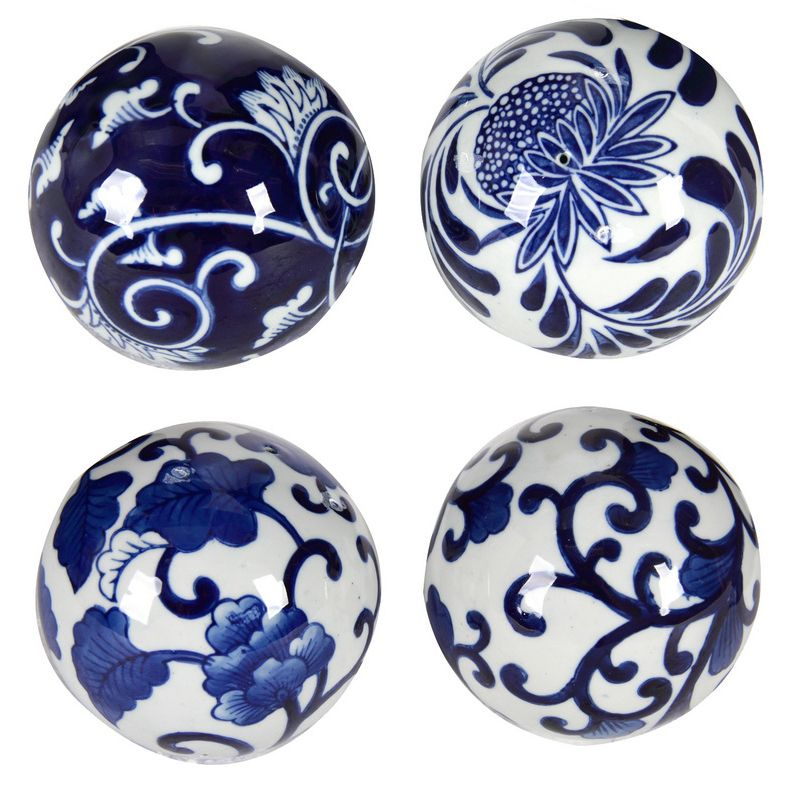 S 4 Blu Wht Ceramic Balls Ceramics Pinterest White Ceramics