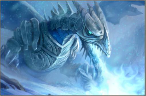 Baby Ice Dragon | DRAGO DI GHIACCIO CON ARMATURA-