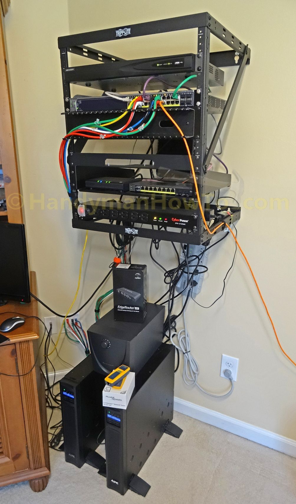 Home Network Wall Mount Rack Home Infrastructure