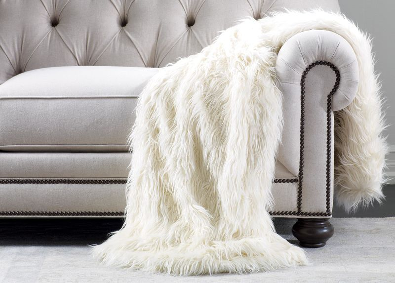Ivory Faux Fur Throw Wrap Up In The Luxury Ethan Allen Faux Fur