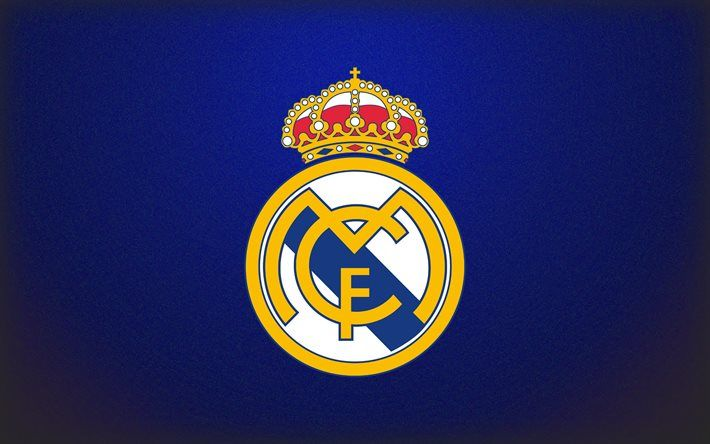 Download Wallpapers Real Madrid Logo Blue Background Besthqwallpapers Com Real Madrid Logo Wallpapers Real Madrid Logo Real Madrid Wallpapers