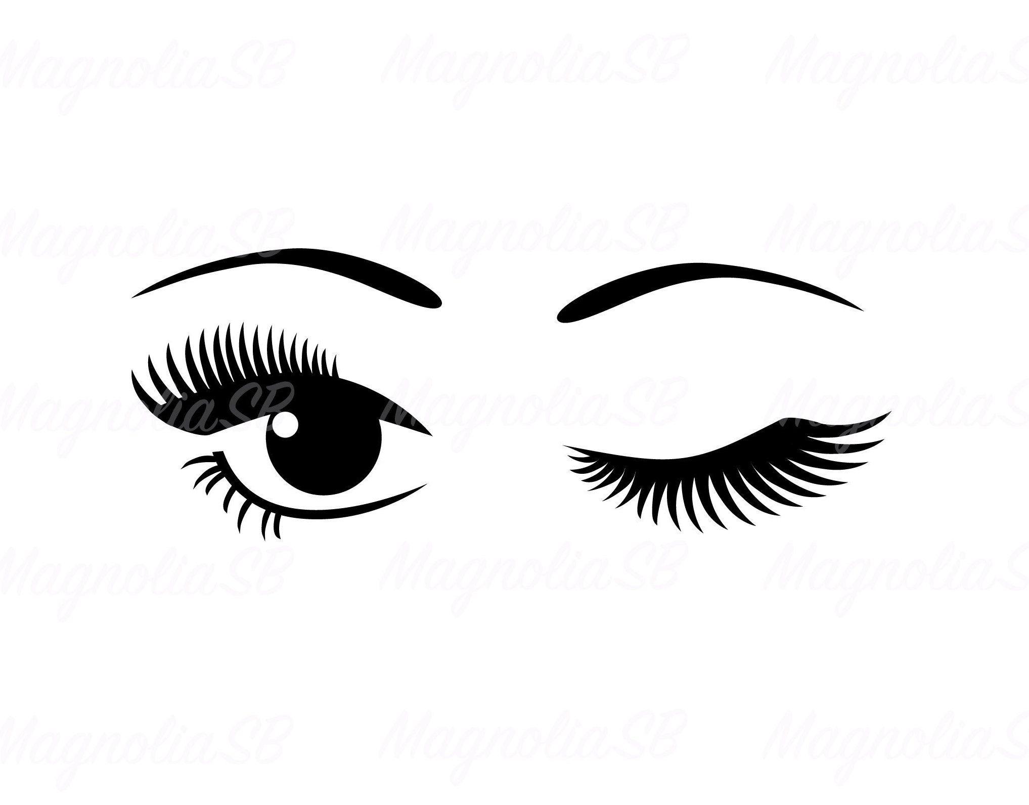 Winking Eye Svg Dxf Winking Eyes Clipart Eye Png Eye Etsy In 2021 Eyes Clipart Winking Eye Clip Art