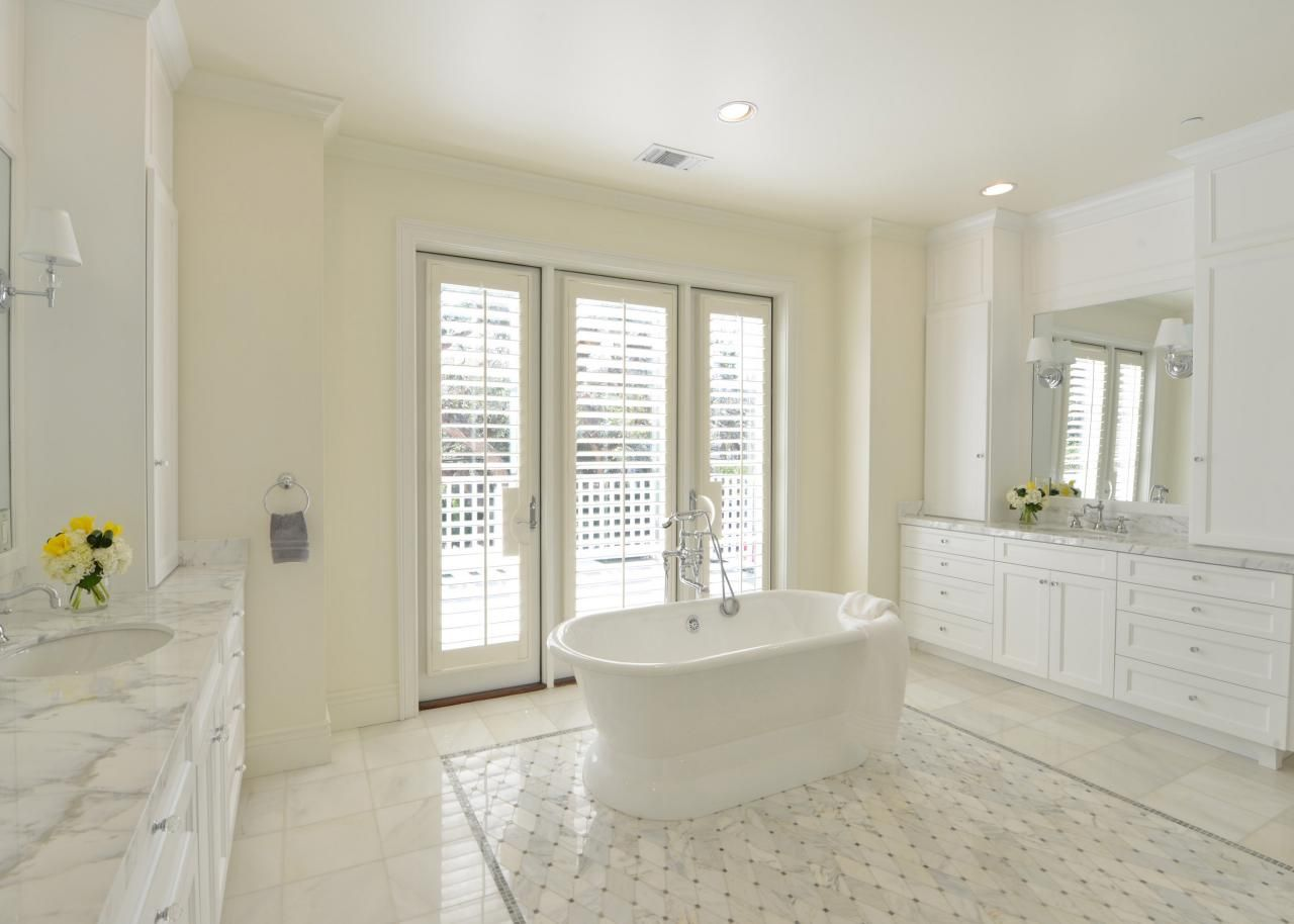 spacious all white bathroom. Photo Page. White Master BathroomBathroom Spacious All Bathroom P