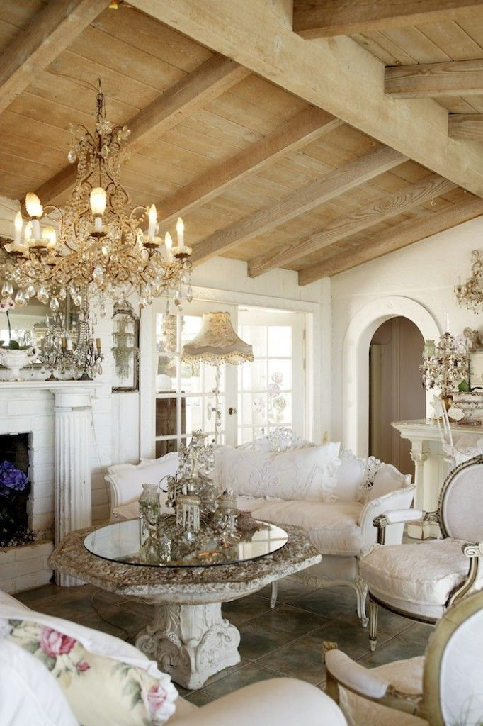 34 Adorable And Romantic Provence Living Rooms Living Room Decor Country Shabby Chic Living Room Design French Country Living Room