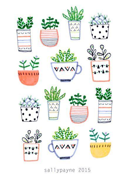 Sally payne illustration and surface pattern designer for Planificateur jardin