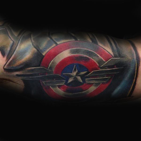 captain america tattoos for the arm 70 captain america