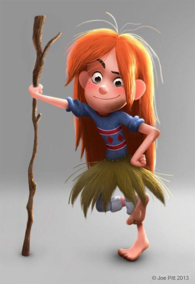60 Most Beautiful 3D Cartoon Character Designs - Pouted