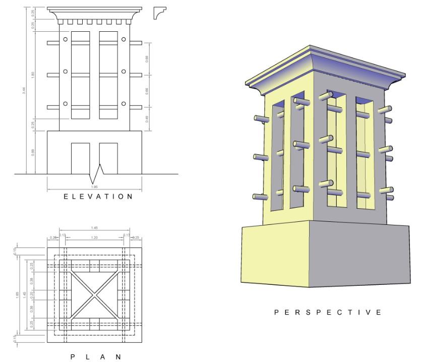 Planos De Torre Nrabe Del Viento En Dwg Autocad Aire Acondicionado Climatizacion Diseno Bioclimatico Arquitectura Verde Aire Acondicionado