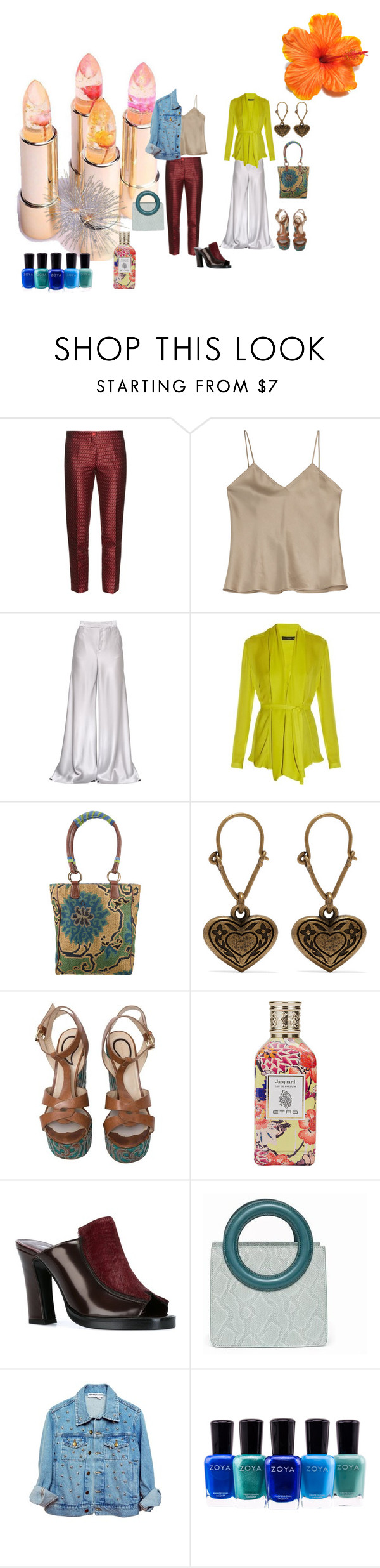 """""""Different Textures...."""" by rosastreet on Polyvore featuring moda, Etro, Opening Ceremony e Zoya"""