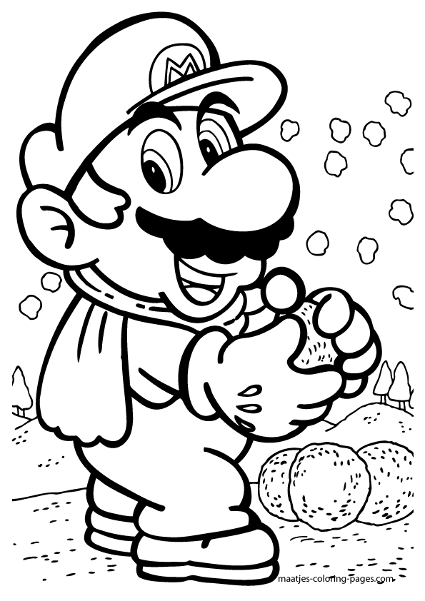 Pin On Super Mario Coloring Pages For Kids