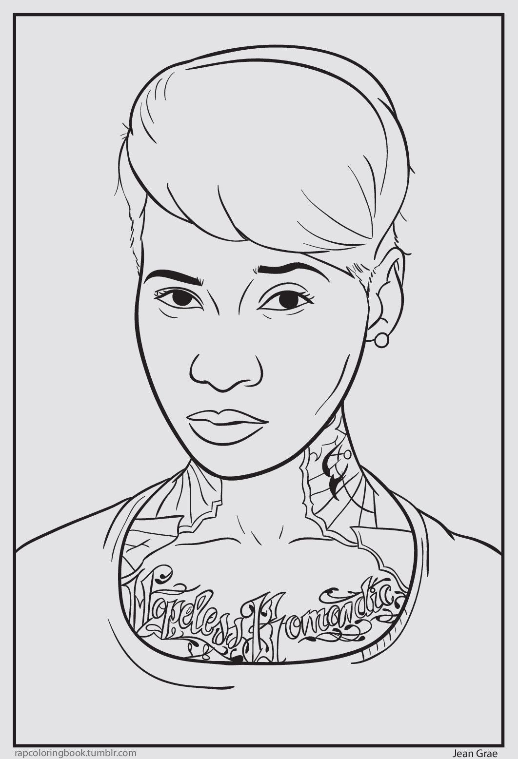 click here to download the jean grae coloring page print it out