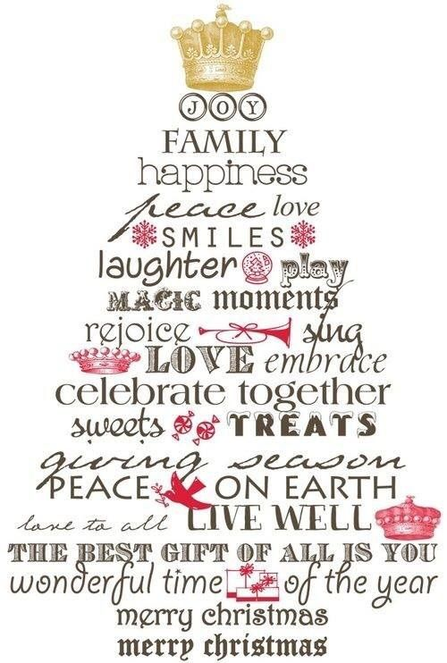 Charmant Joy Family Happiness Peace Love Smiles Live Well Happy Home Wonderful Time  Of The Year Merry · Merry Christmas Quotes ...