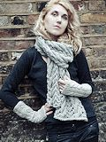 Cable Lace Scarf