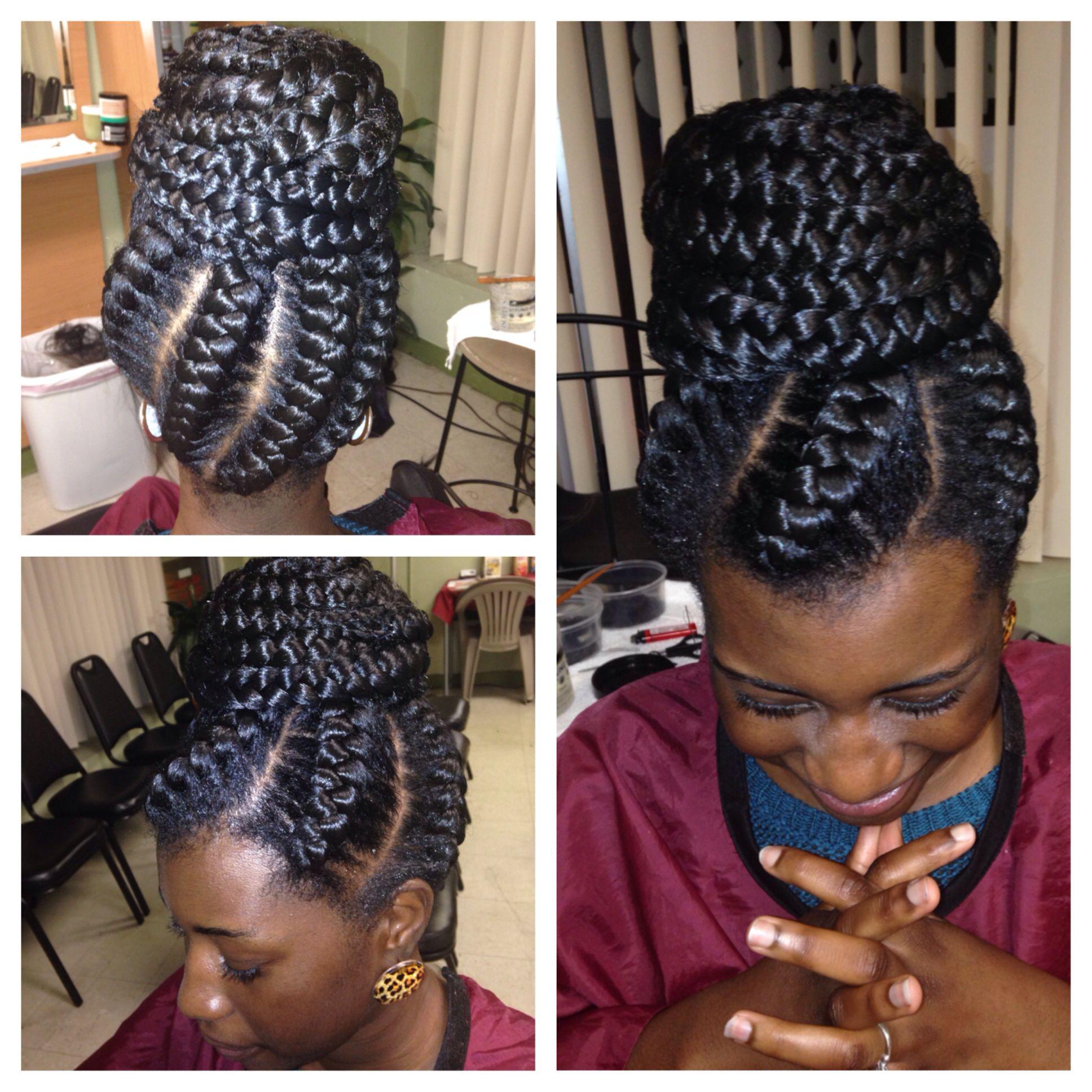 my goddess braids in a bun! | all about hair | pinterest | goddess