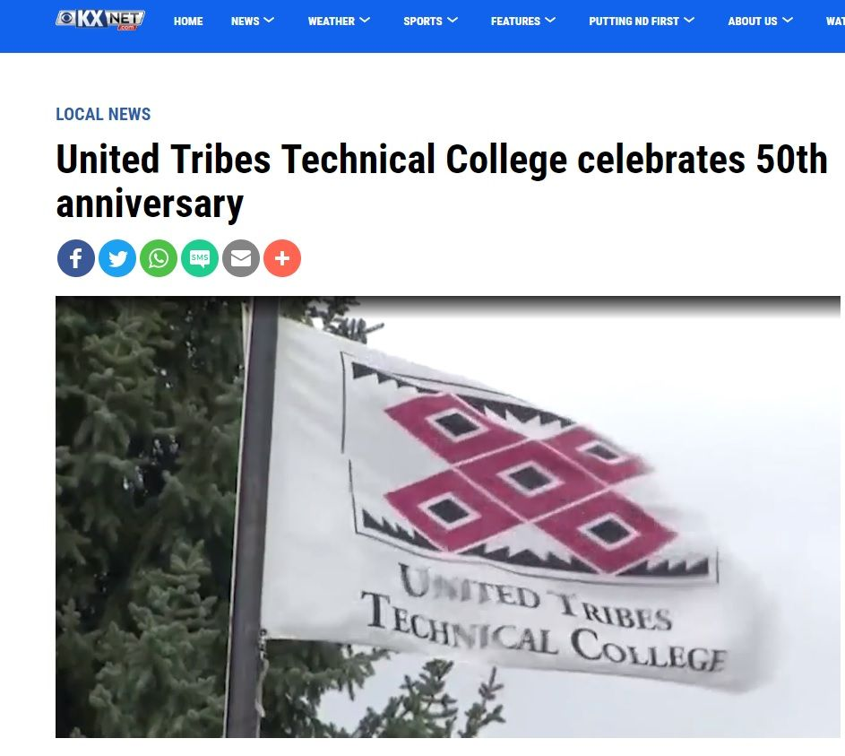 United Tribes Technical College Celebrates 50th Anniversary College The Unit 50th Anniversary