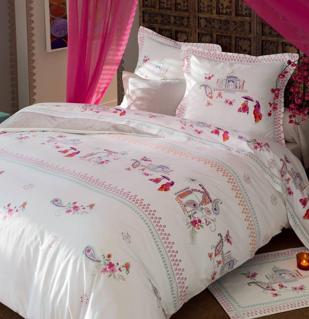 Linge de lit rajasthan par fran oise saget textil bed linge de lit pinterest lit soldes - Housse de couette francoise saget ...