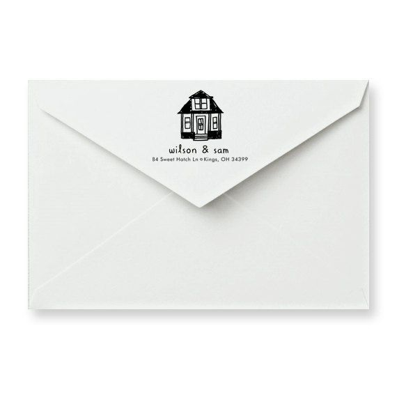 Excellent house warming gift idea. Home Sweet Home Address Stamp. Available at shop.thesmallobject.com