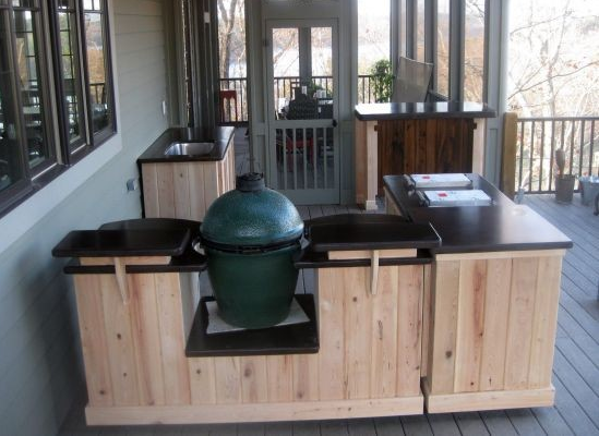 big green egg kitchen on wheels for the big green egg poshpatios com outdoor kitchen build on outdoor kitchen on wheels id=79183