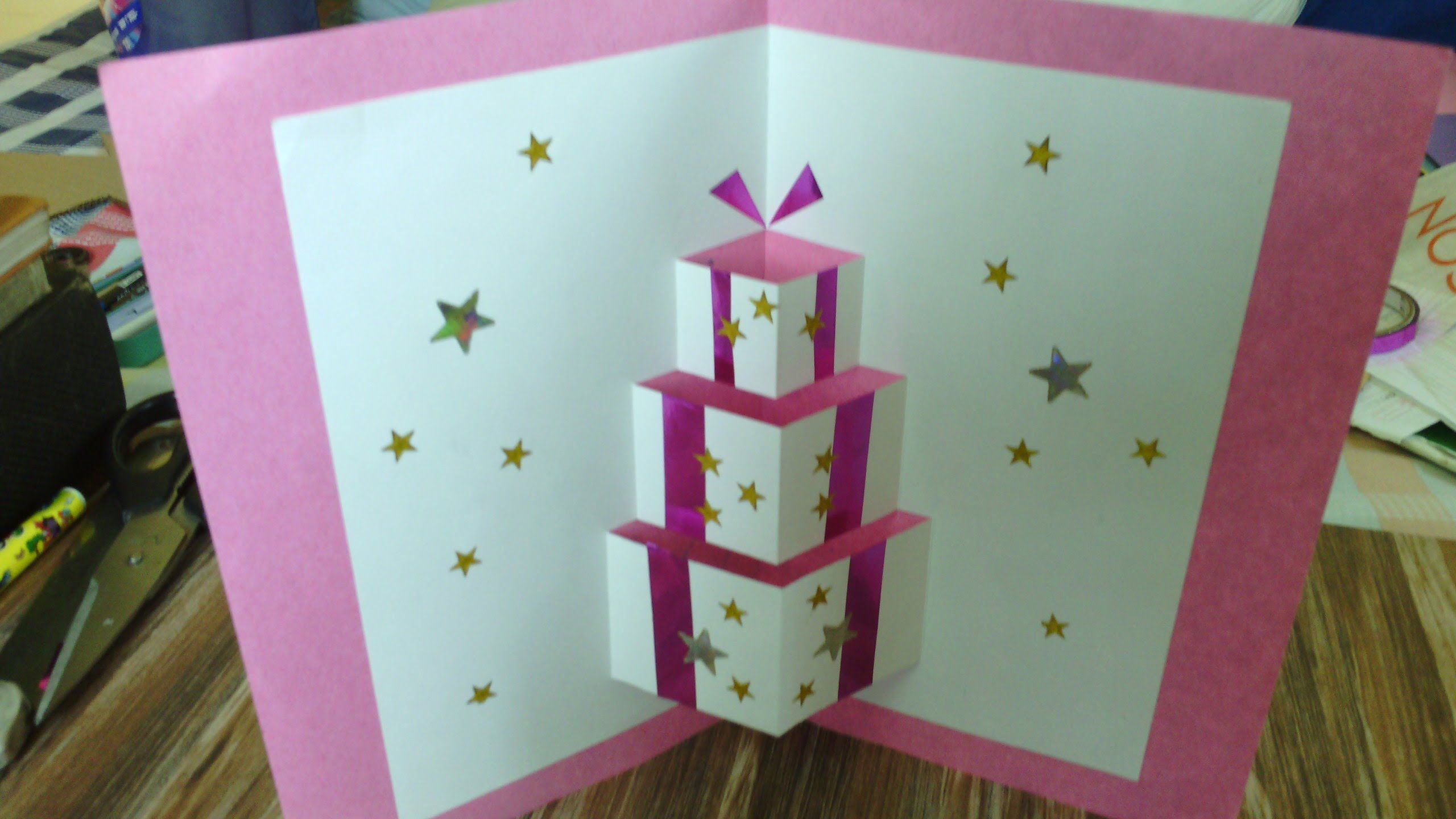 Handmade pop up card tutorial simple to make easy for beginners
